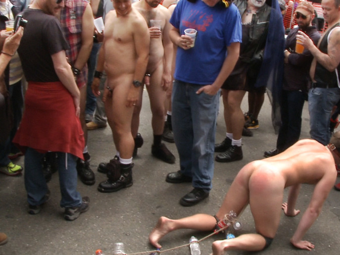 Naked stud bound, beaten and humiliated at Dore Alley Street Fair indian sex scandal mms