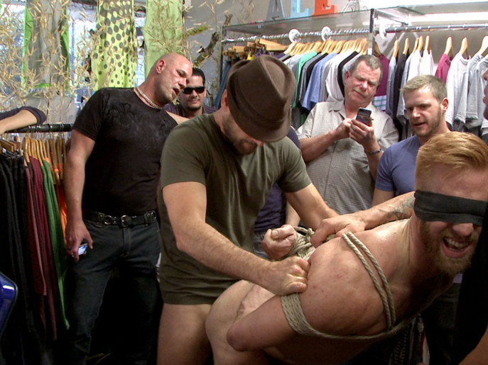 Greedy whore stuffed full of cock at a local clothing store Ivy snow lucy ohara