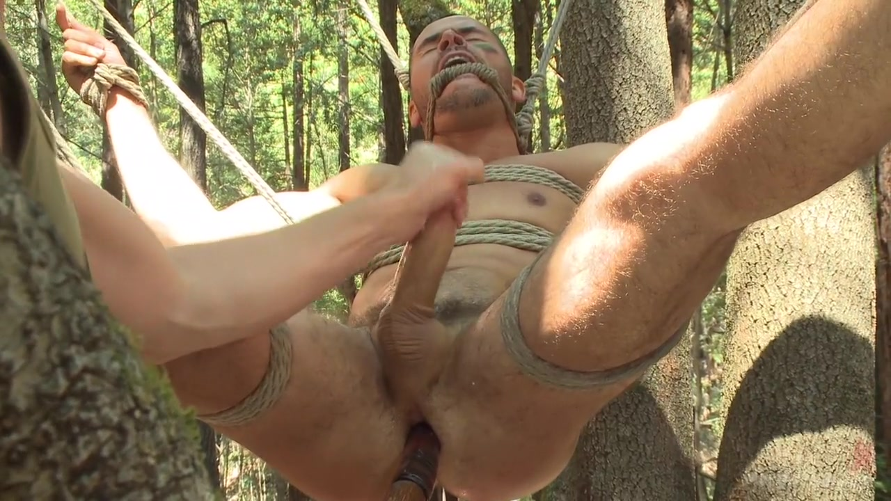 Russian soldier captured and edged deep in the woods Babes in the buff starfire