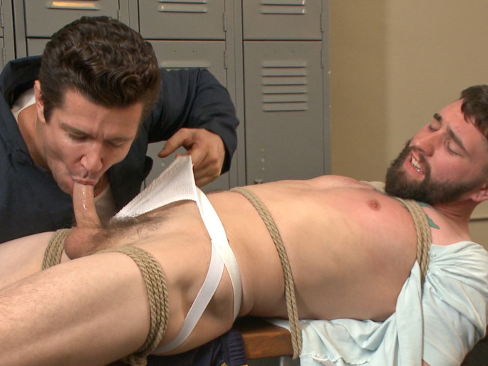 Hot Gym Stud Tormented and Fucked by the Creepy Handyman Male aal masturbation
