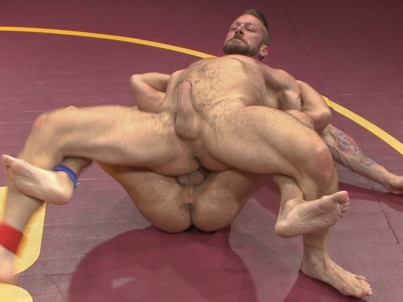 Muscle Matchup - Dirk Caber vs Hugh Hunter Mature wife with two black after dinner