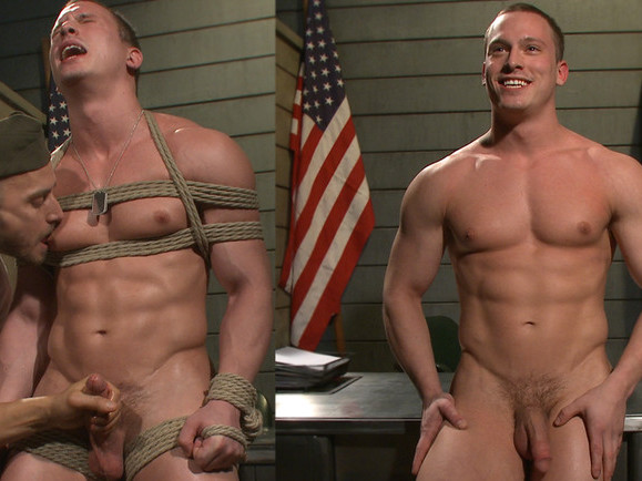 Straight Soldier Edged by His Commanding Officers Skinny Erica and Monster of cock