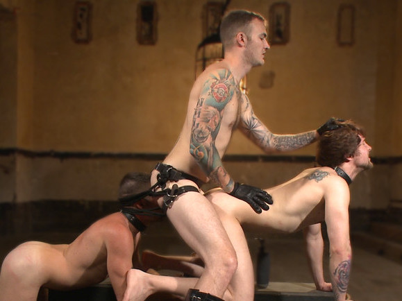 Bound Gods Live: New House Slaves Tested by the Kink Olympics Fat hot double penetrated