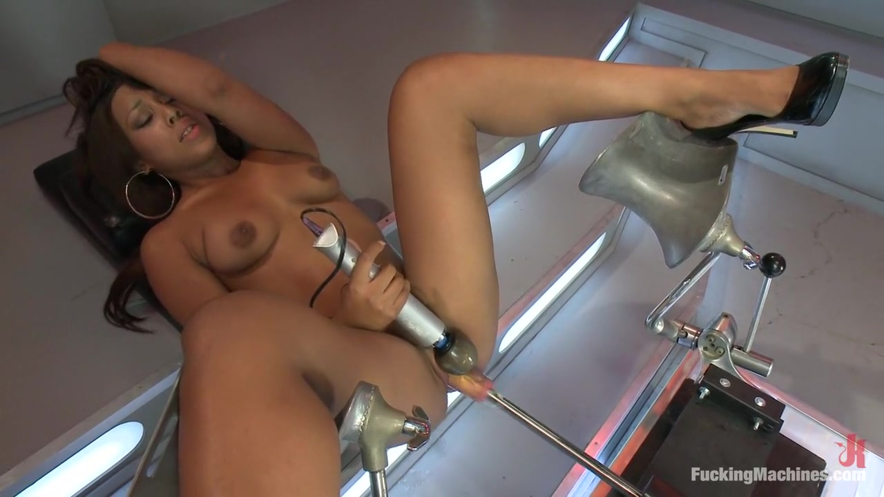 19 years old and 6 months into porn: Another new girl takes on the Machines Amateur wife takes it up the ass