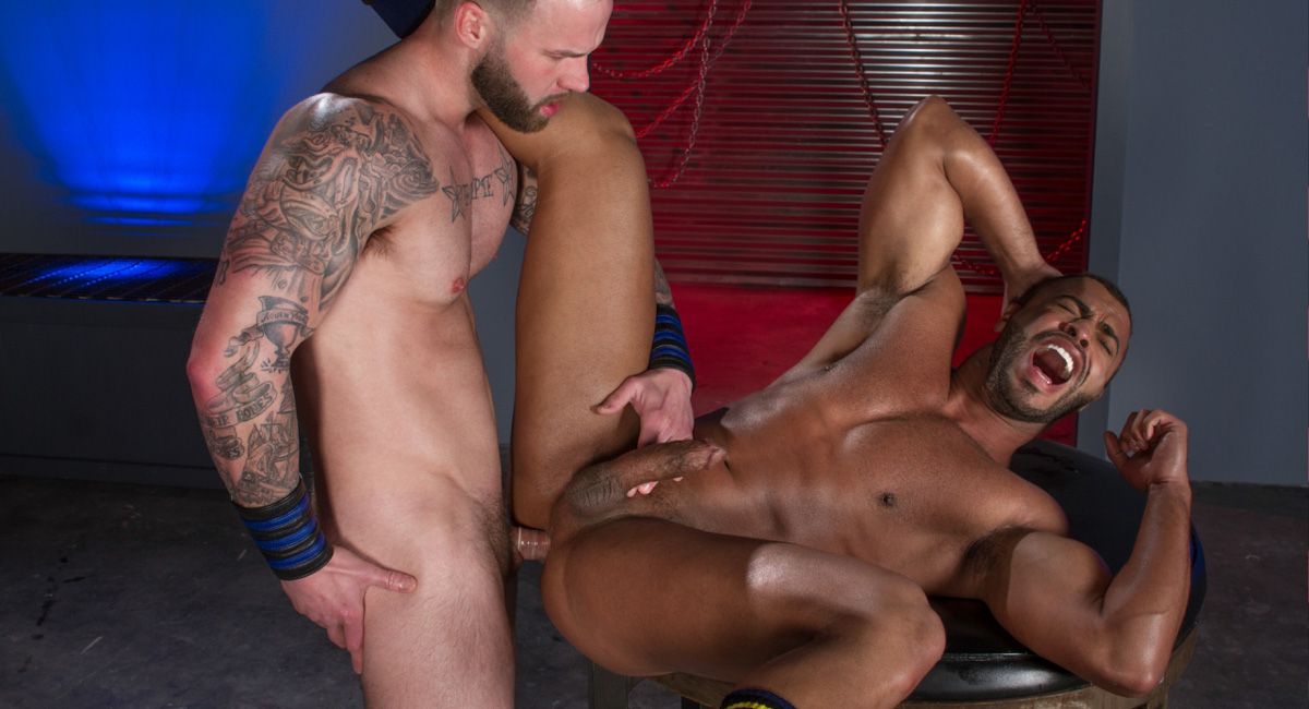 Micah Brandt & Chris Bines in Ass Fiends, Scene 04 - HotHouse Hot guys making out naked