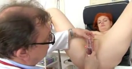 Tall redhead is thoroughly examined 2 of 2 Brutal deep throats videos