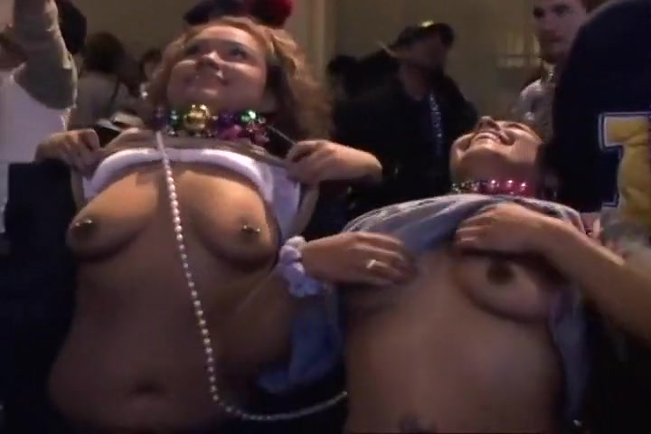 Girls Shake Tits For Mardi Gras Beads black dick glory hole