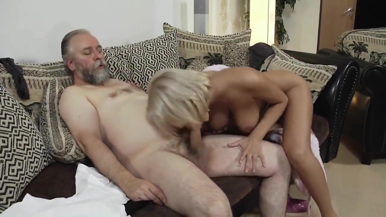 College girl  and sweaty old man