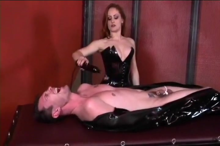 Mistress Jemini Terrorizes Tied Up Dude Huge tits and halter tops
