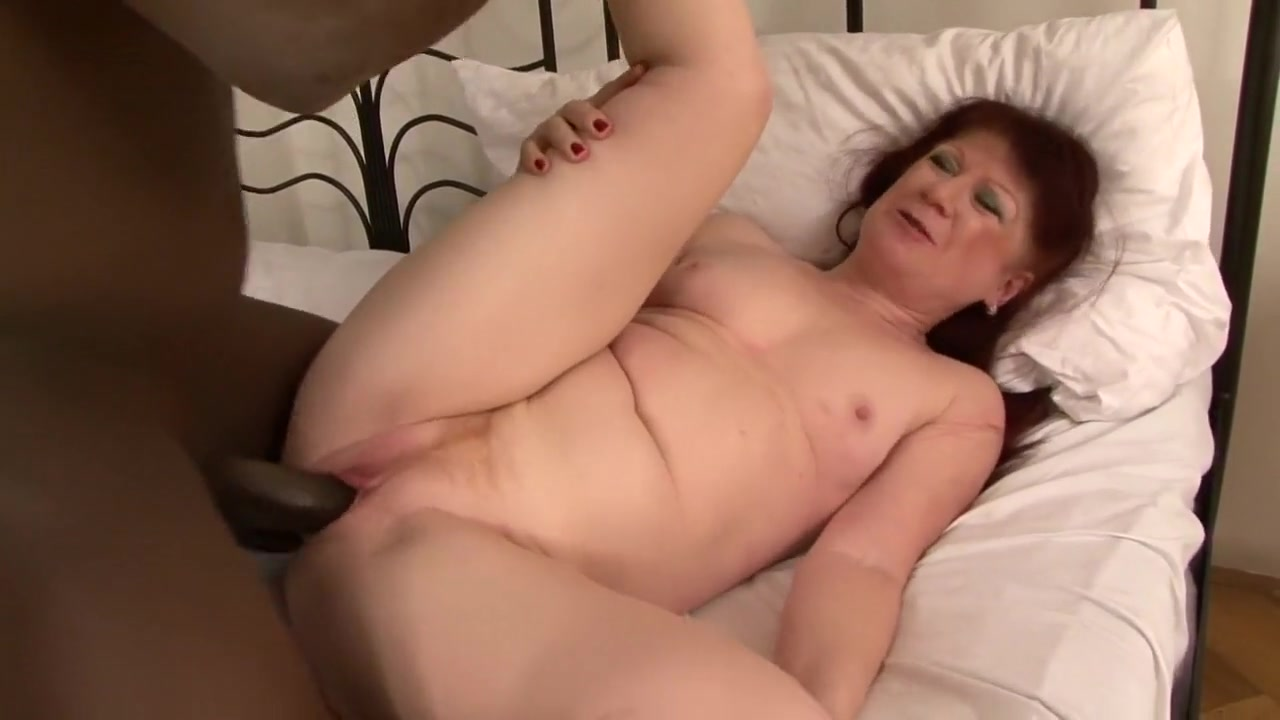 Ugly Mature Esmeralda Rocked By Black Dong