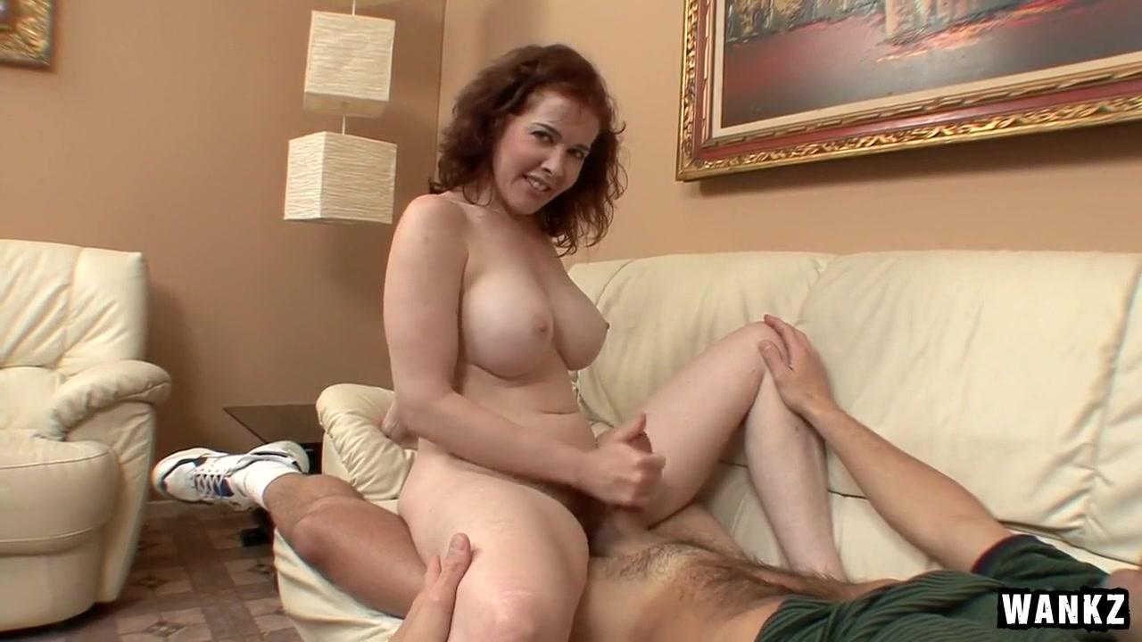 Redhead MILF Mae Victoria Jacks Him Off hot girl in yoga pants anal fucked