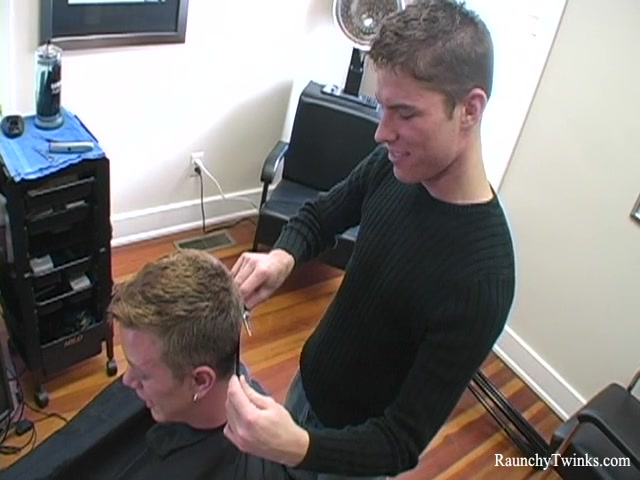 RaunchyTwinks Video: Naughty hairdresser gets blown japanese massage hidden xxx