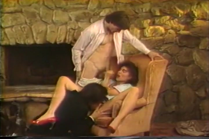 Christy Canyon Drains Two Throbbing Rods