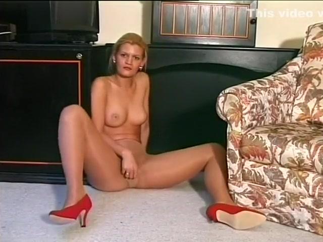 Blonde European Shows Off Her Nice Legs Femdom 1