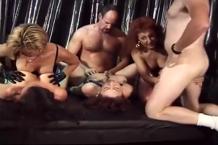 Hardcore Group Sex Party In Back Room Domme in charge