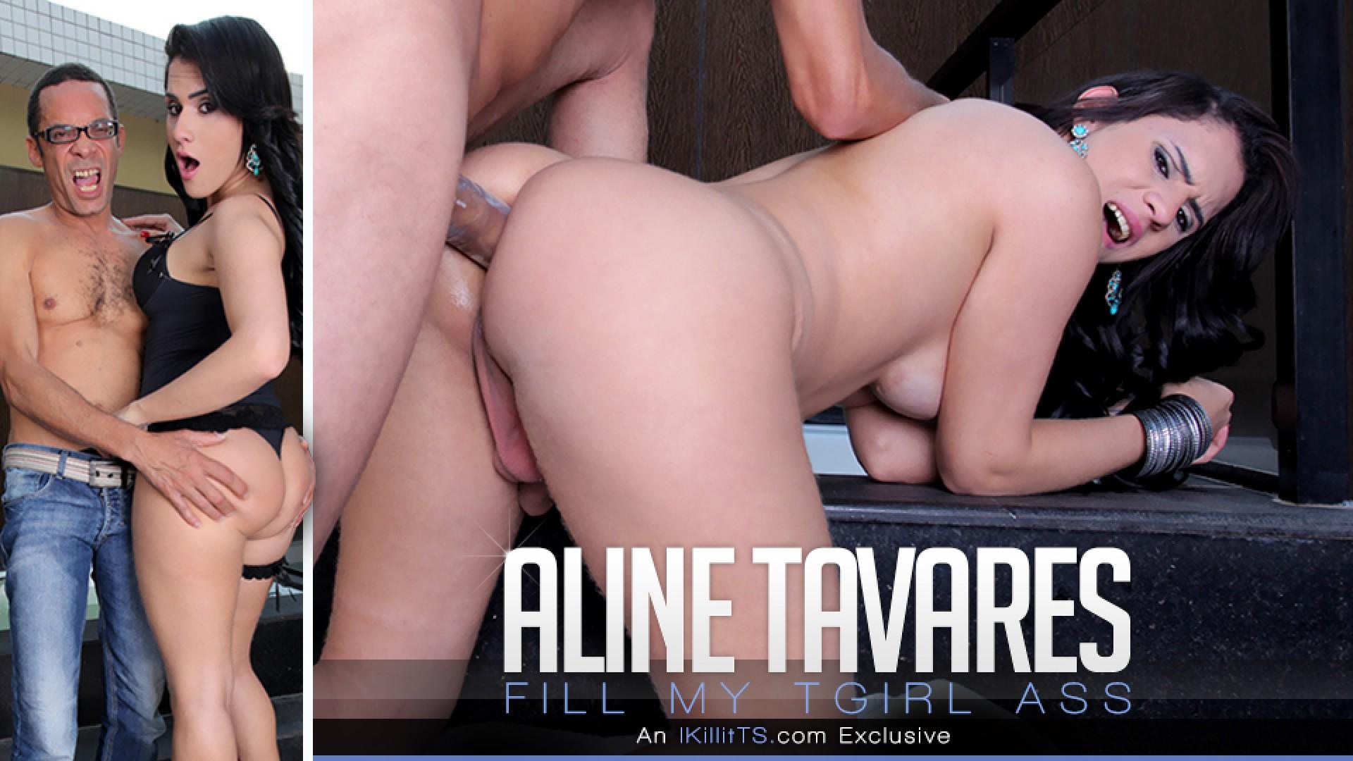 Aline Tavares in Fill my TGirl Ass - IKillItTs Italian porn video hd