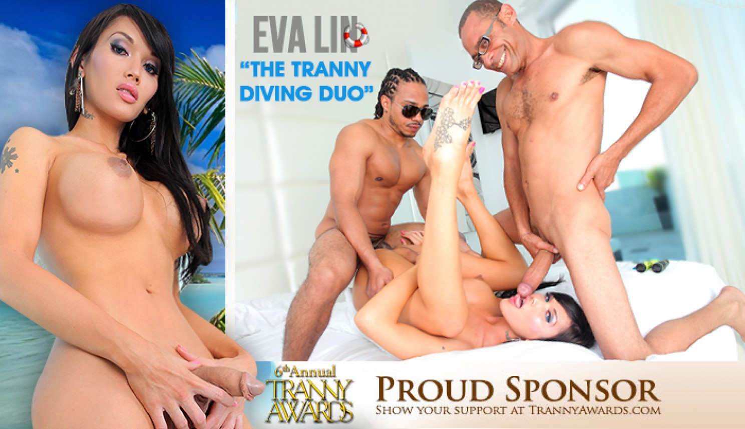 Eva Lin in The Tranny Diving Duo - IKillItTs Hairy Big Mom
