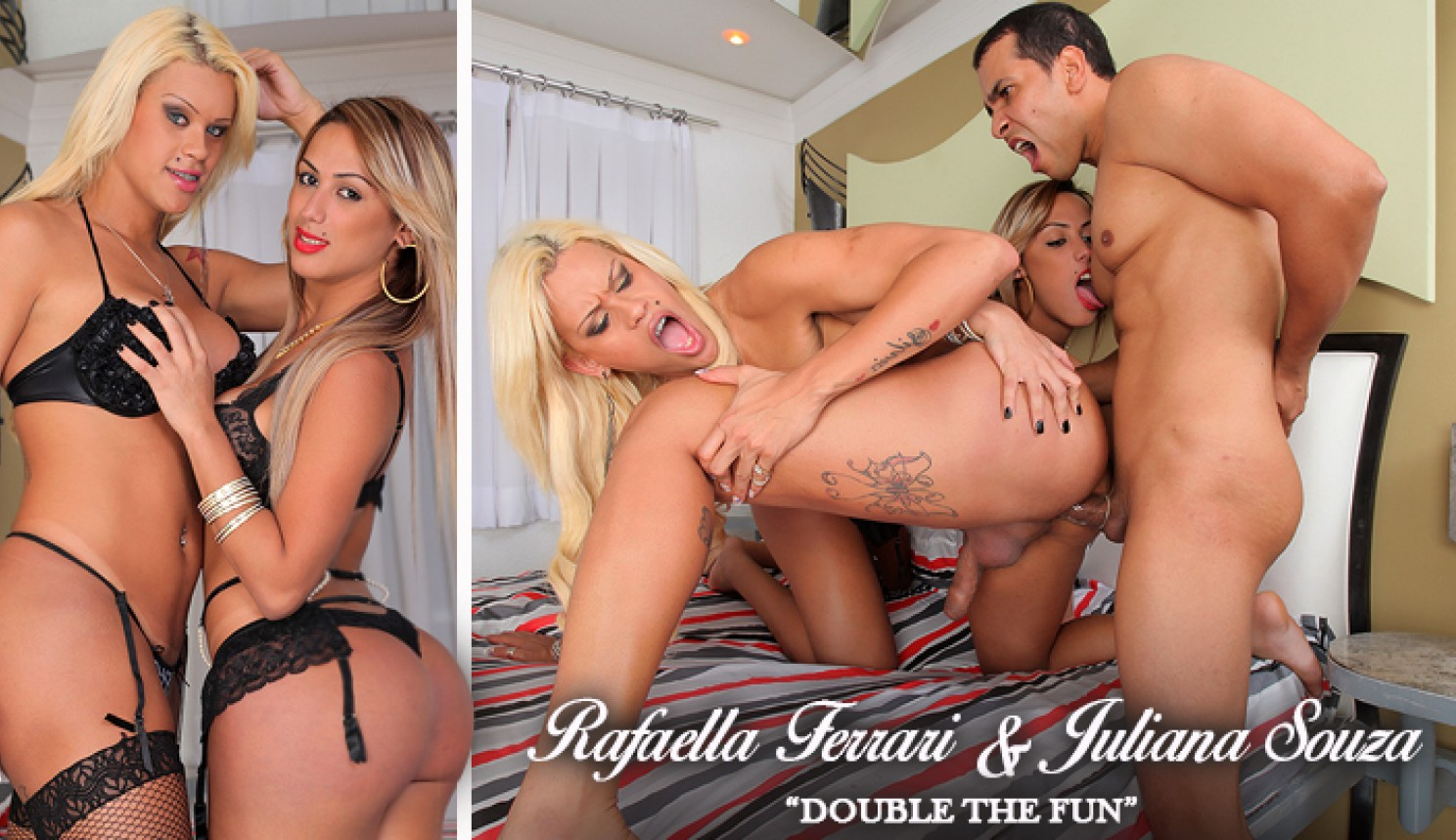 Juliana Souza & Rafaella Ferrari in Double the Fun - Trans500 Dating quest usa dig wikipedia