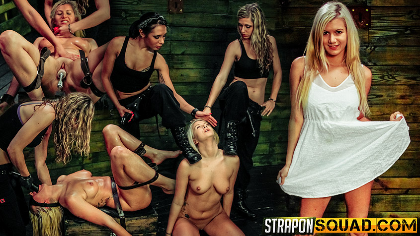 Fucking Machine Lesbian Domination for Layla Price with Isa Mendez & - StrapOnSquad