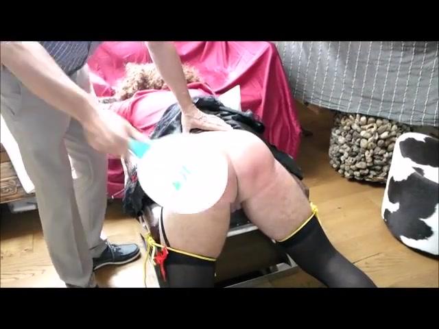 Real hard crossdresser spanking Wife with dildo orgasm video
