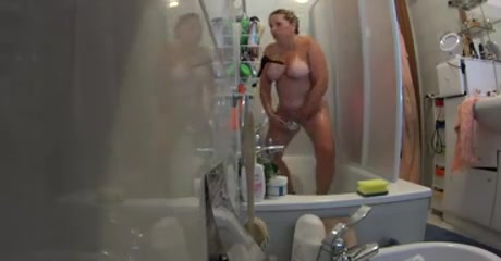The blond angel - shower and dress reheasal Dark tan colored nice boobs and naked henti