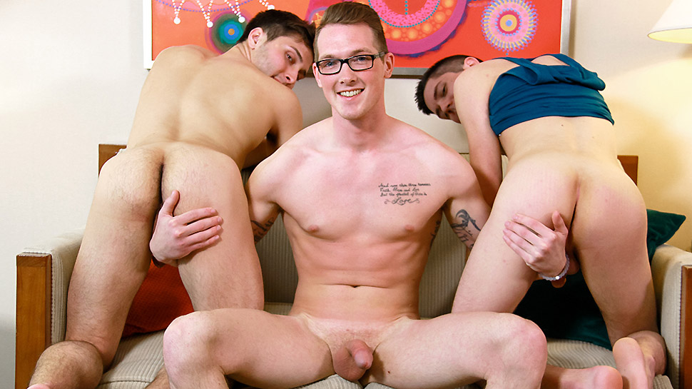 Brandon Rivers & Jackson Cooper & Kyle Ryder in Frat Bros on Spring Break Part 2 - ManRoyale Two guys having anal sex
