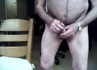 Grandpa stroke and play on cam Pele Video