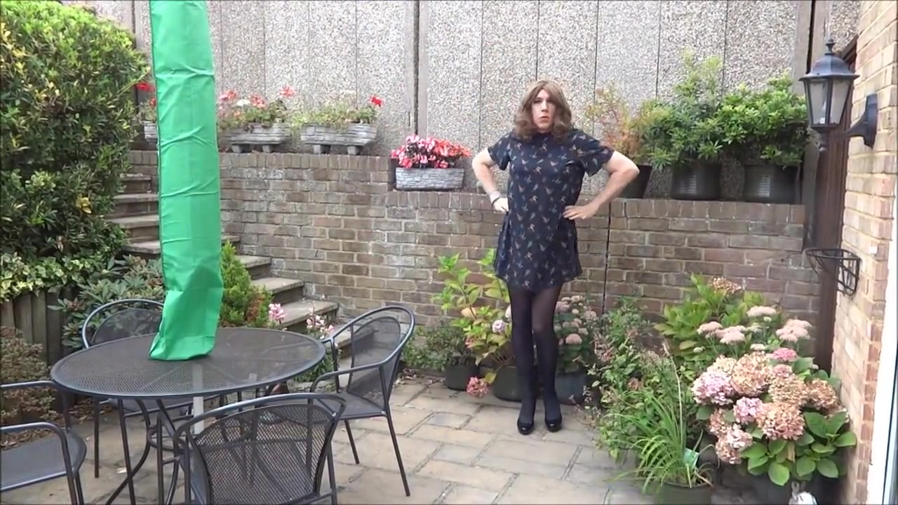 Sexy Crossdresser Alison playinging in the garden Karala woman fucking video download