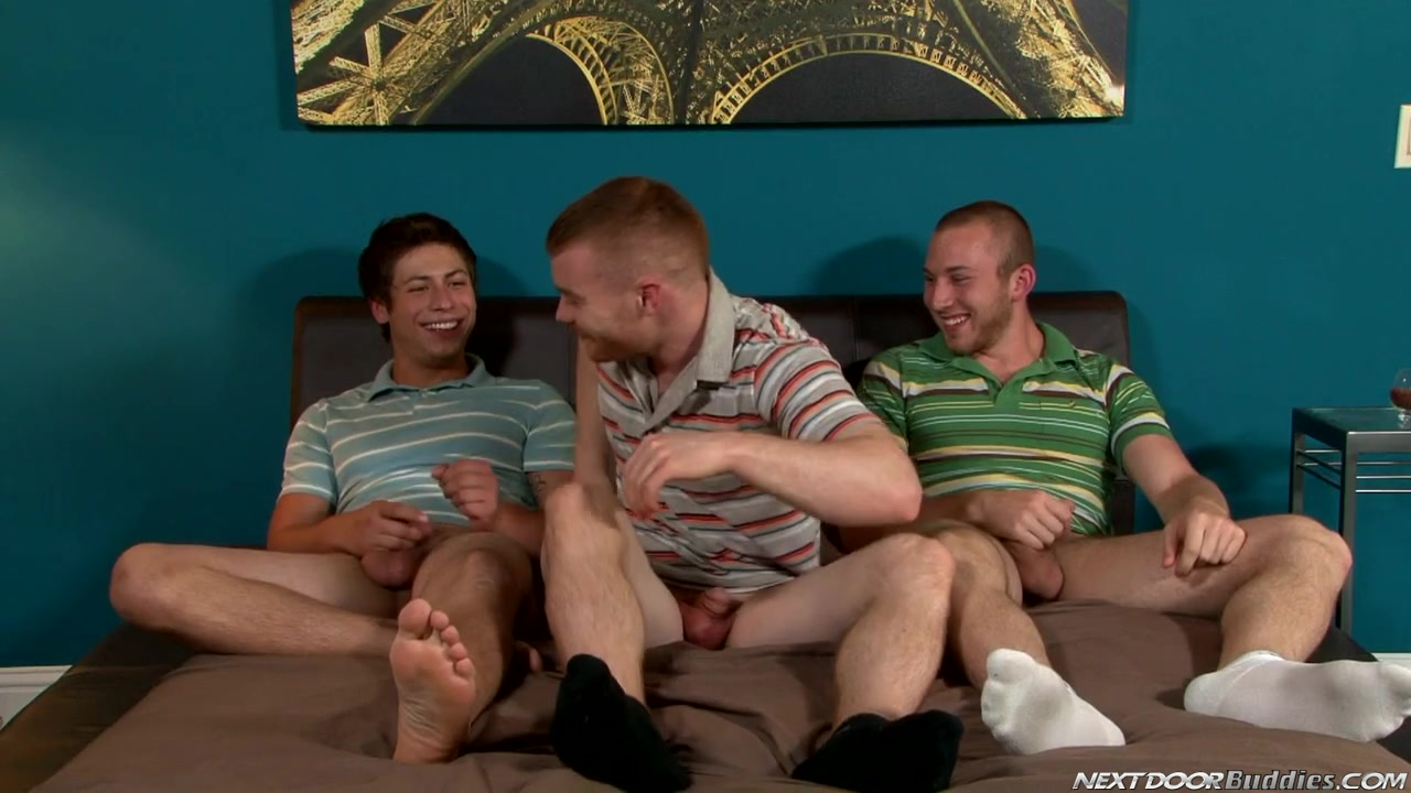 NextDoorBuddies Video: Three for the Money Worshiping florida blowjob first time Bear Necessities