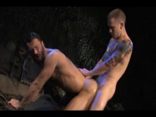 Two soldiers fuck each other. Trantric nude touching foreplay