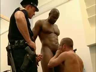 The police uniform suit Glam matures dressing and undressing