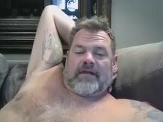 Dad Bear Wanks on Webcam fucking large photo shemale