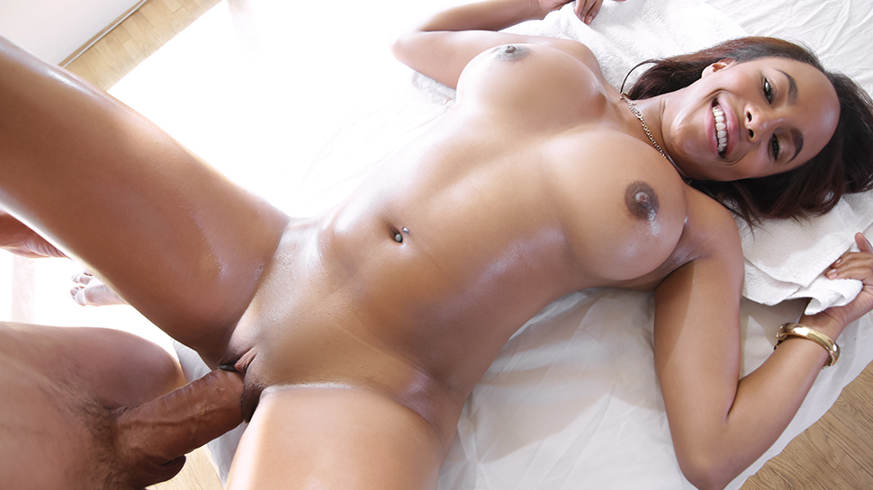 Marie Washington in Oil Massage - Exotic4k over 50 gangbang videos