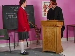 Teacher spanks her students