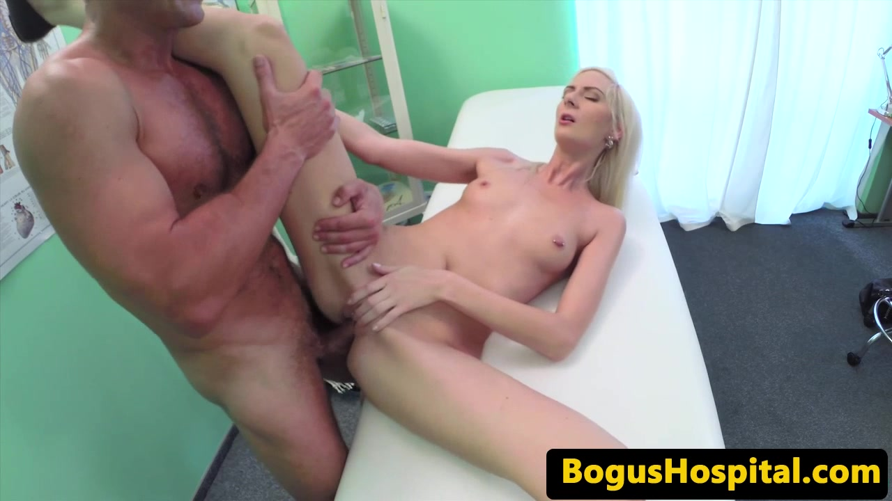Cocksucking patient sprayed with doctors cum Dildo extreme free video