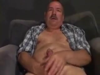 Moustache daddy bear mature mom and young boy