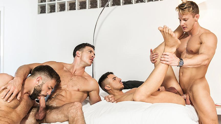 Darius Ferdynand & Hector De Silva & Klein Kerr & Paddy OBrian in The Weekend Away Part 3 - JizzOrgy telephone sex operator jobs