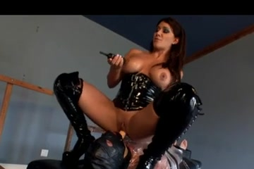 Amazing busty brunette plays a wicked femdom game massive big black dick