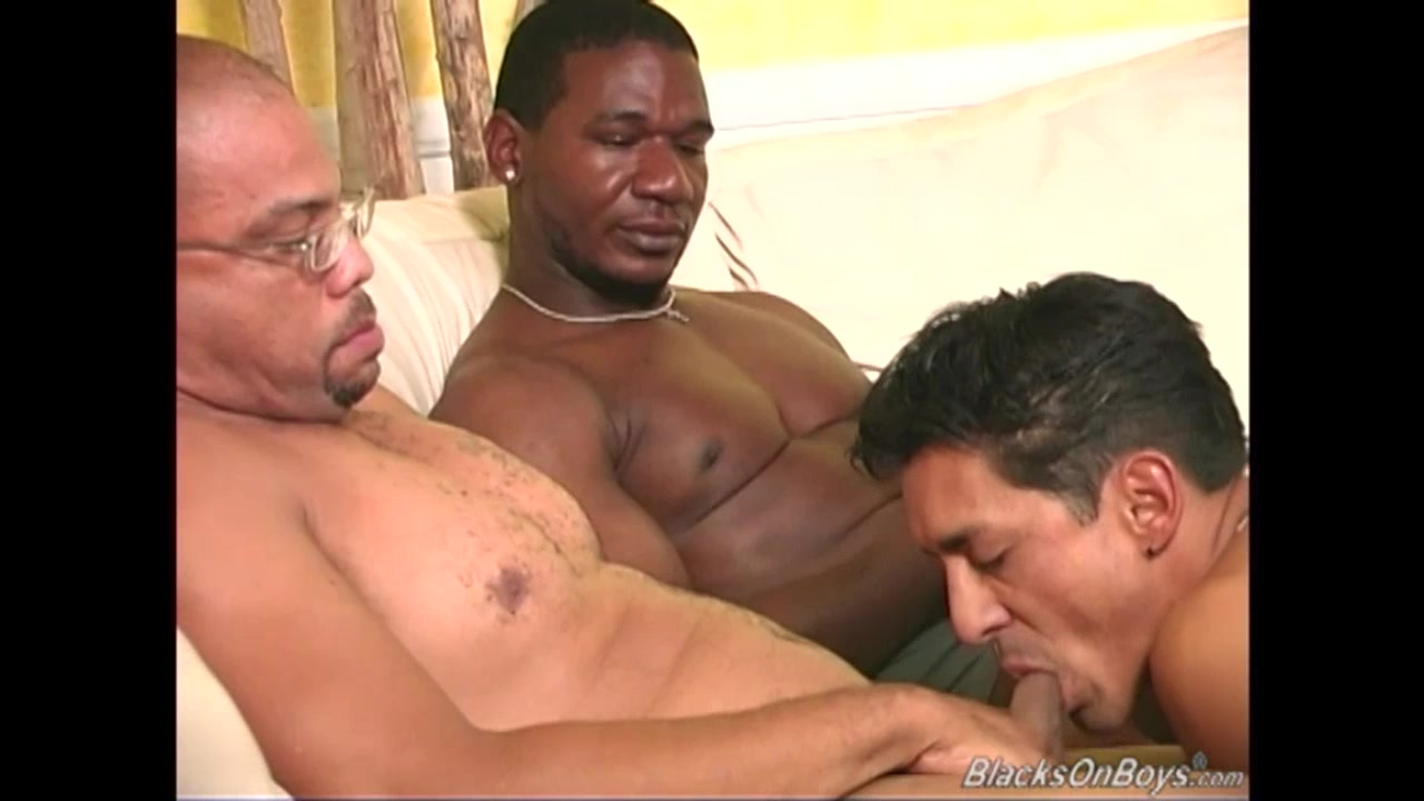 Two black dudes sharing the ass of a white guy freee live sex cams now