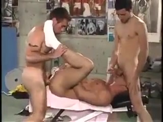 Threesome fucking in gym Video Three Some