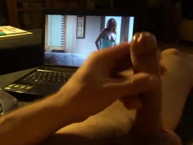 Watching hot girl on computer Spank black booty