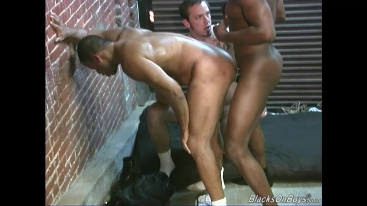 Two black janitors fucking a white guy in the ass Cb3000 chastity cock cage