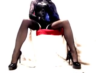 Heels Seamed Nylons Lace and Shiny Wetlook Harness Bra Bengoli X Video Indin