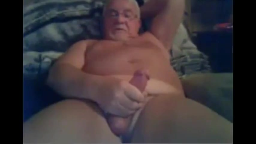 Grandpa cum on cam 7 Trying something new and kinky