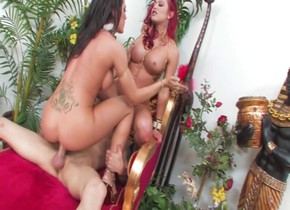 Crazy pornstars Capri Cavalli and Mia Leilani in incredible tattoos, cumshots porn clip