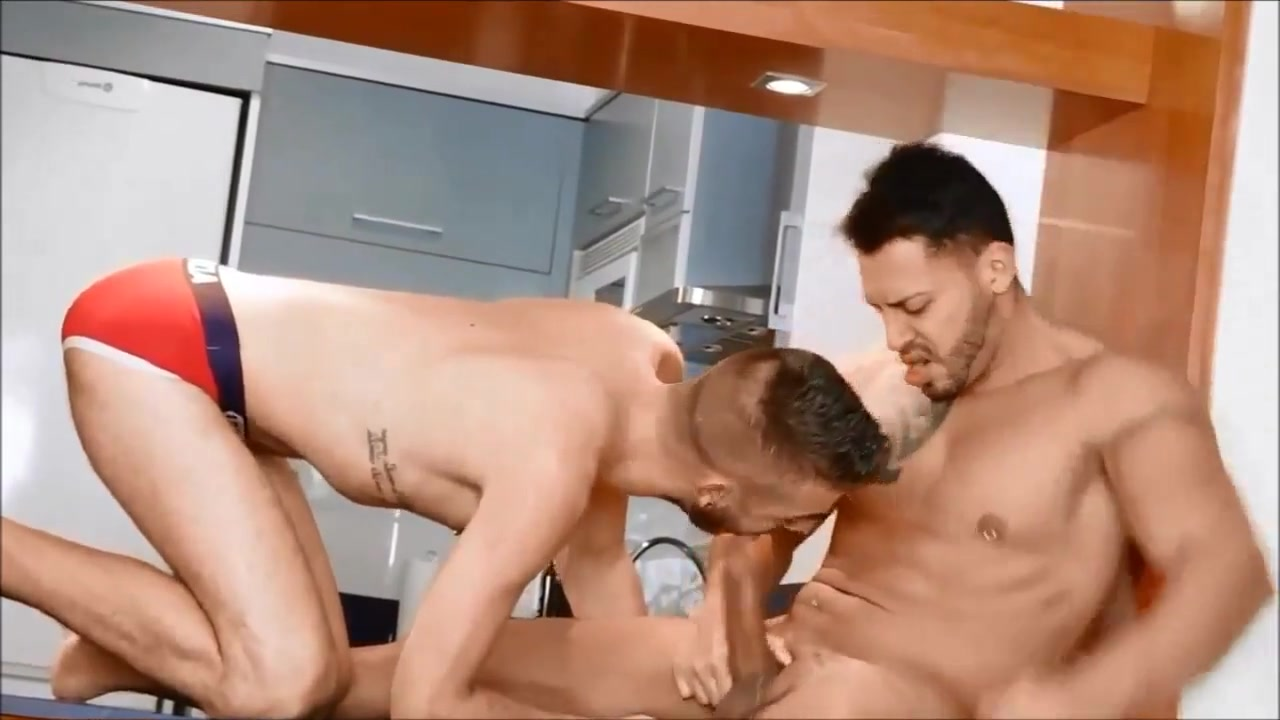 Jeronimo and Alvaro Black studs stroking their dick