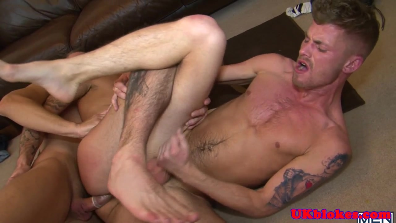 Three musculed british jocks facefucking Deep throat twins