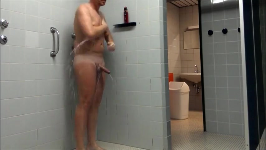 German male wanks public shower Strange wilderness boob