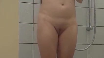 Sonja and I fucking in a public shower