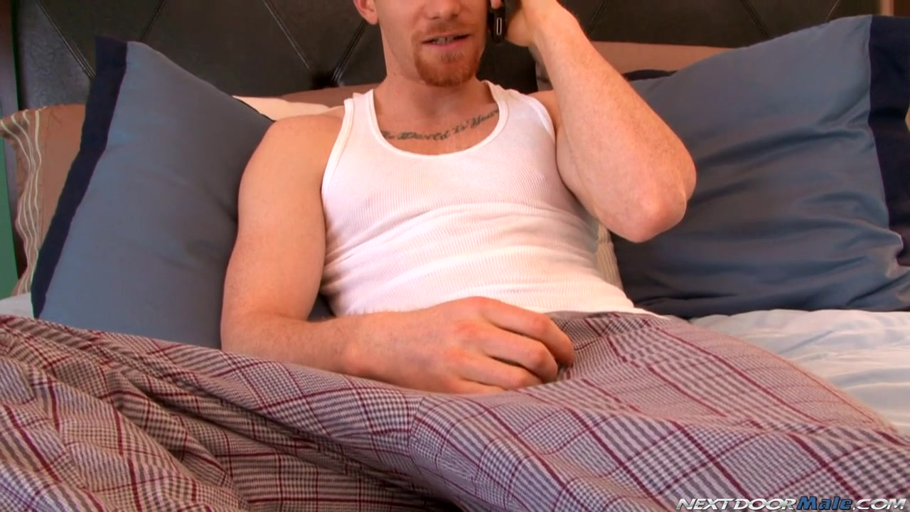 NextdoorMale Video: James Jamesson Adorable cutie is riding on white studs dong